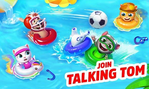 Talking Tom Pool Puzzle Game
