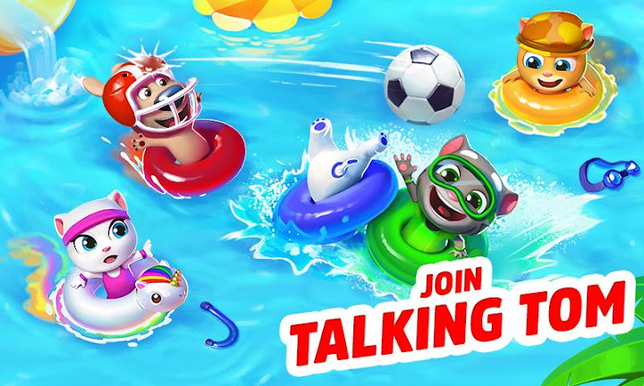 Talking Tom Pool Puzzle Game Android App Screenshot