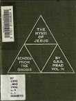 Echoes From The Gnosis Vol IV The Hymn Of Jesus