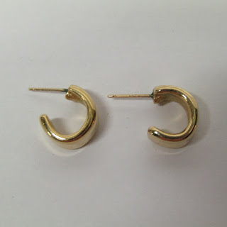 14K Gold RLL Hoop Earrings