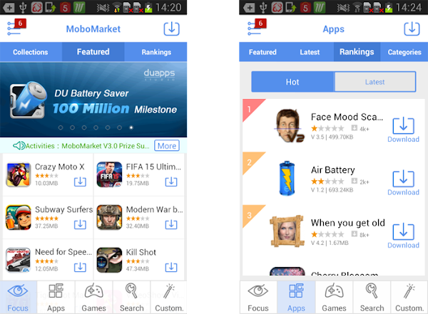 New Way to Download Free Apps - MoboMarket  3.0 Now Released