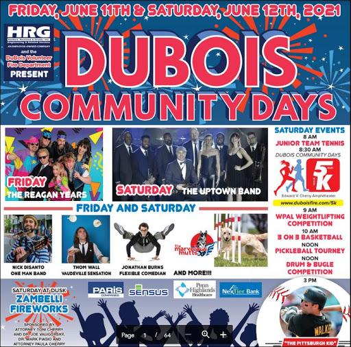 6-11/12 DuBois Community Days