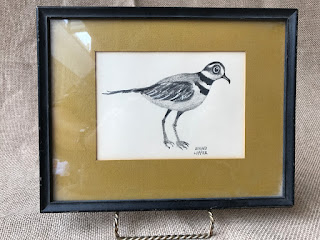 Edward Lupper Signed Bird Drawing
