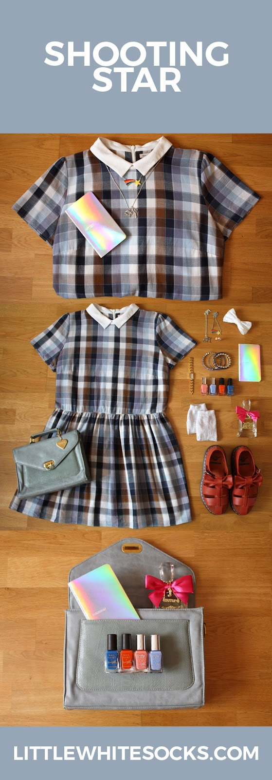 check collared summer dress outfit
