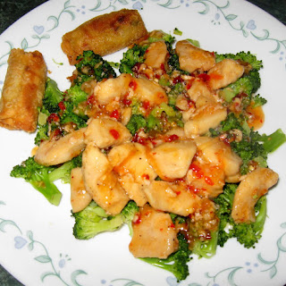 Sweet and Spicy Chicken with Broccoli.