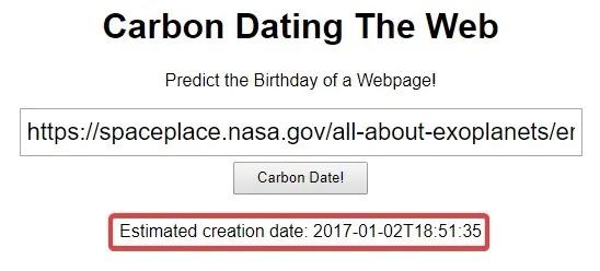 كيف تعرف متى تم نشر صفحة ويب