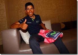 Nairo Quintana lider sobre la CRI
