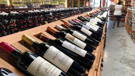 Wine brands in the US. PHOTO | CNN