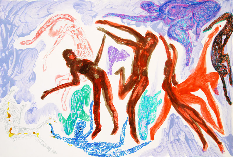 dance of life i (drawing by frank waaldijk)