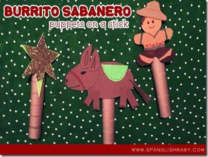 marionetas burrito Sabanero para teatrillo de Navidad