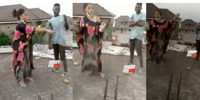 Moesha Budoung Attempts To Commit Suicide By Jumping Off An Uncompleted Storey Building, Video Drops