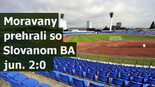 Moravany prehrali so Slovanom BA jun. 2:0