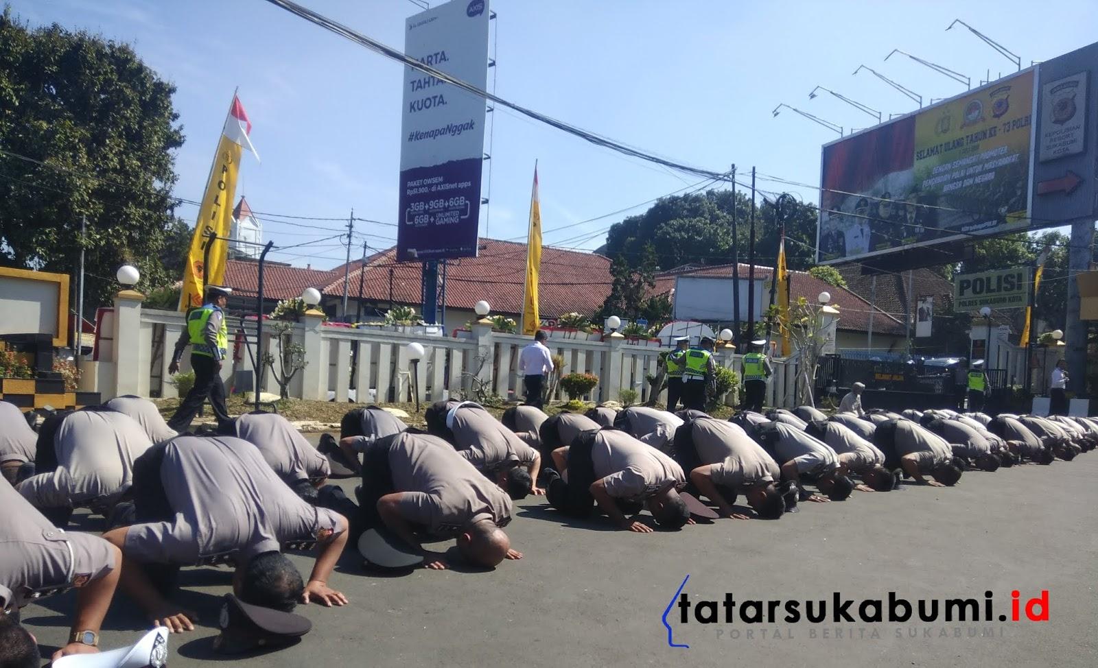 Korps Raport 52 Anggota Polresta Sukabumi Naik Pangkat