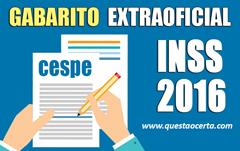 INSS - GABARITO EXTRAOFICIAL