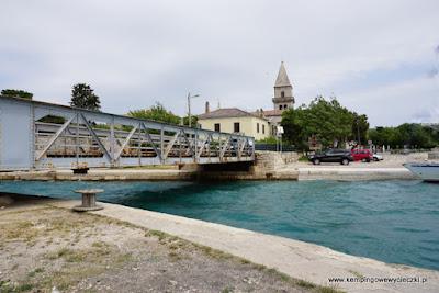 most obrotowy w Osor; Chorwacja