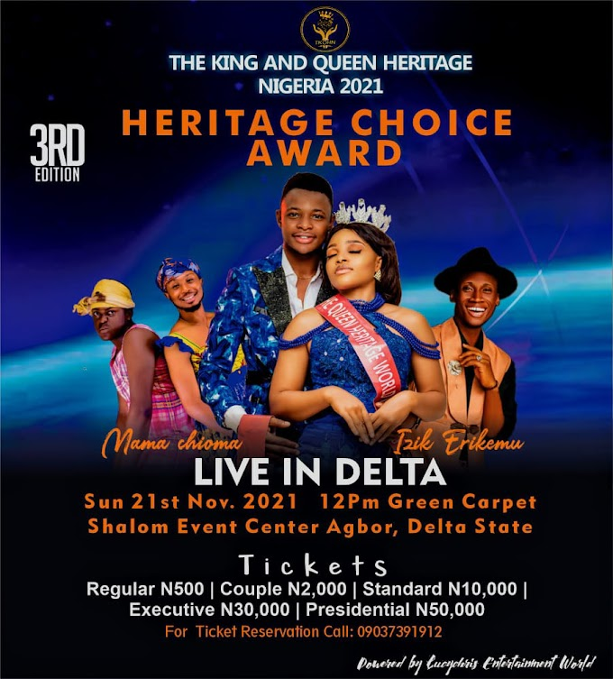 Who will be the next king and queen Heritage Nigeria?
