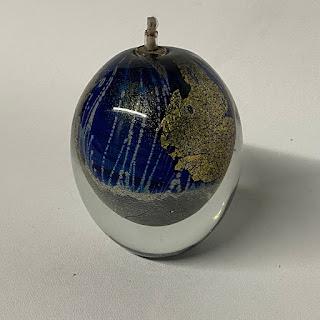Eickholt Signed Art Glass Oil Lamp