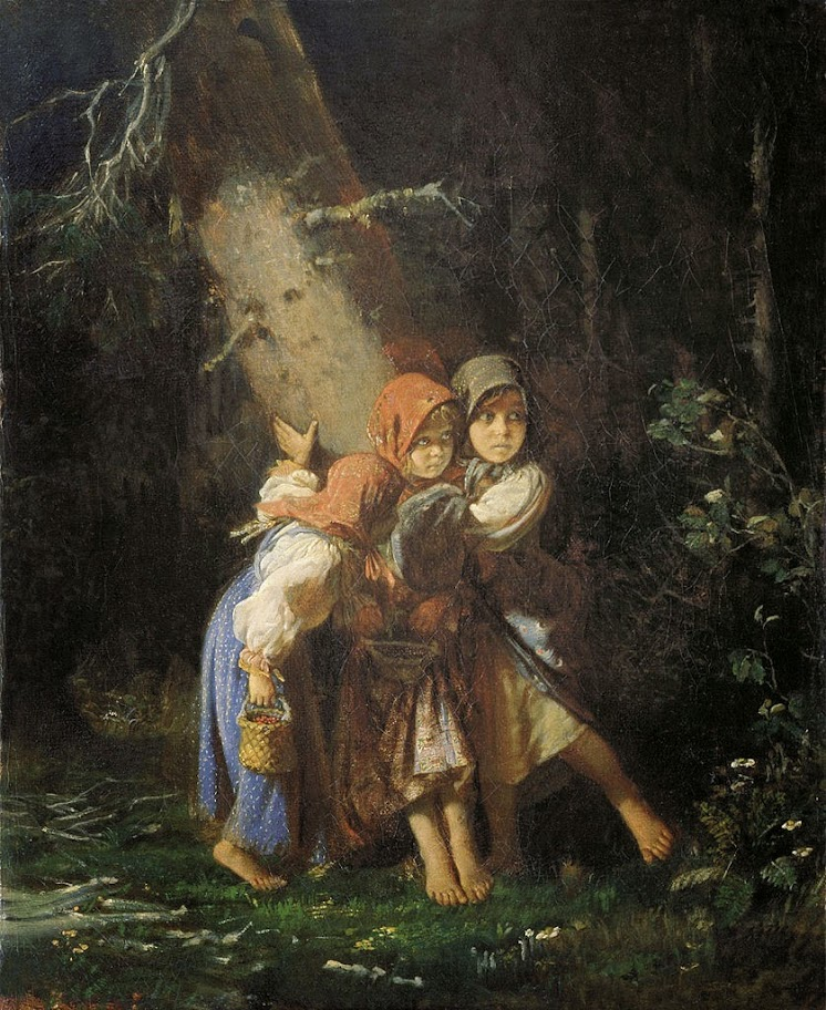 Alexey Korzukhin - Peasant Girls in the Forest, 1877