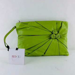 Valentino RED Chartreuse Clutch