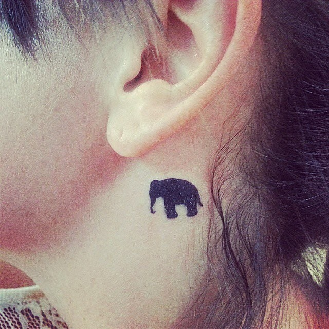 Be Bold like Elephant Neck Tattoo Idea for Women