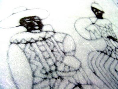 和紙の表現方法「漉き合わせ」で掛け紙の模様を形作った事例