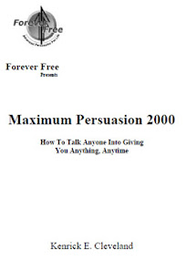 Cover of Kenrick Cleveland's Book Max Persuasion 2000