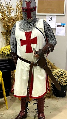 Knights Templar Helmet Created from an Old Plastic Sign