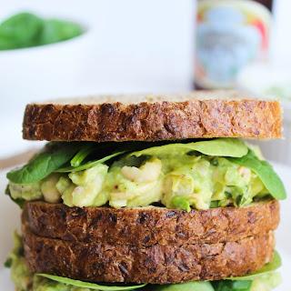Smashed White Bean, Basil, & Avocado Sandwich