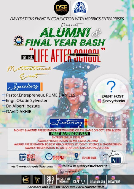 Davydsticsks Event Final year bash : LIFE AFTER SCHOOL