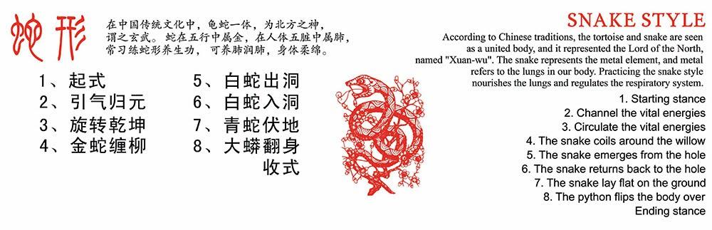香港武當道緣堂 - 武當秘傳五形養生功之蛇形