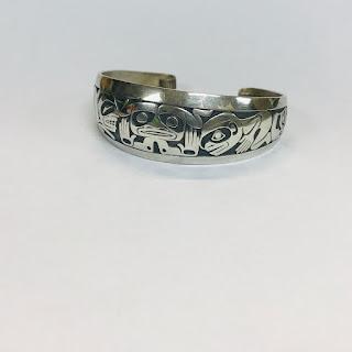 Sterling Silver Barry Herem 'Emerging Mankind' Bracelet