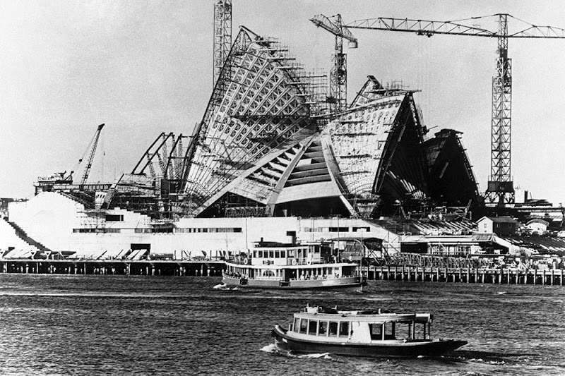 The Sydney Opera House Under Construction in 1965