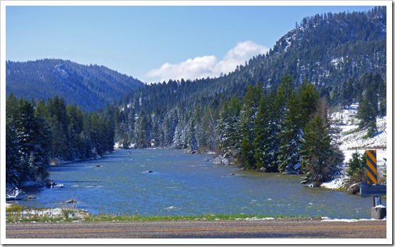 Madison River near Rest Area on U.S. Hwy. 287 near Raynolds' Pass Historical Marker