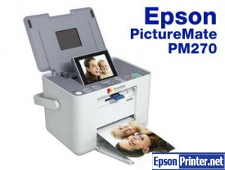 How to reset Epson PM270 by application