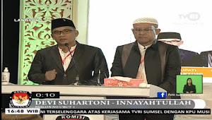 Debat Pertama, Warga Menilai Devi-Tullah Lebih Paham Kondisi Muratara, Terlebih Paparkan Visi Misi Tanpa Contekan