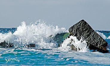 Photo: Küstenschutz mit Wellenbrechern aus Stein