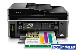 How to reset flashing lights for Epson WorkForce 610 printer