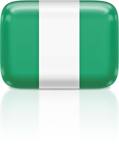 Nigerian flag clipart rectangular