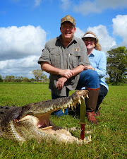 Mr Tom Dodge, USA with a 14 foot crocodile harvested at Carmor Plains during March