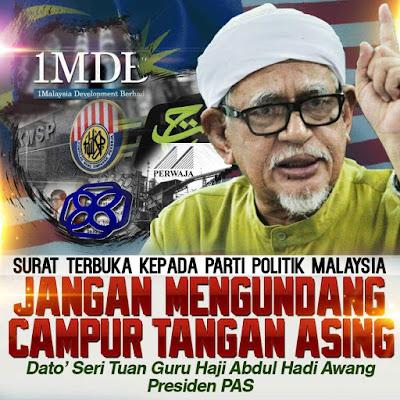 """SURAT TERBUKA KEPADA PARTI POLITIK MALAYSIA   """"JANGAN MENGUNDANG CAMPUR TANGAN ASING"""""""