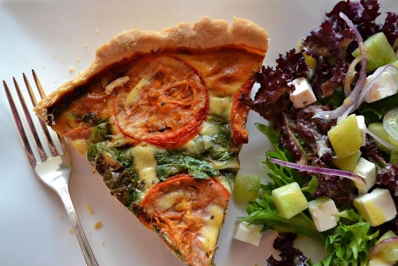tomato spinach tart