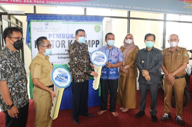 Bank Kalsel Resmikan Kantor Kas MPP di Disdukcapil Tapin