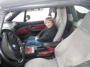 little guy in a little car, huh?