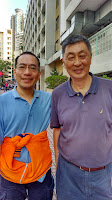 2015年11月14日同學日,適值李錦英由加拿大回來香港,到母校參觀。 (李錦英、黃景怡)