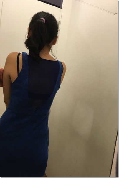 Kitschen Mahkota Parade, Royal blue dress
