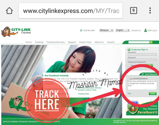 citylink consignment tracking