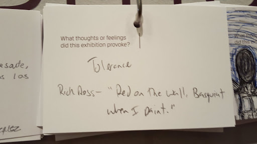 """Tolerance. Rick Ross- """"Red on the wall, Basquiat when I paint."""" From Love, Change, and the Expression of Thought: 30 Americans at the Detroit Institute of Arts"""