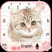 Cute Pink Kitty Cartoon Keyboard Theme