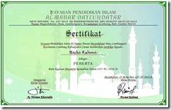 Contoh Sertifikat Pesantren Ramadhan