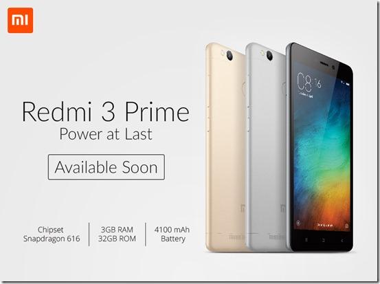 Xiaomi Redmi 3 Prime Garansi Resmi Segera Hadir di Indonesia
